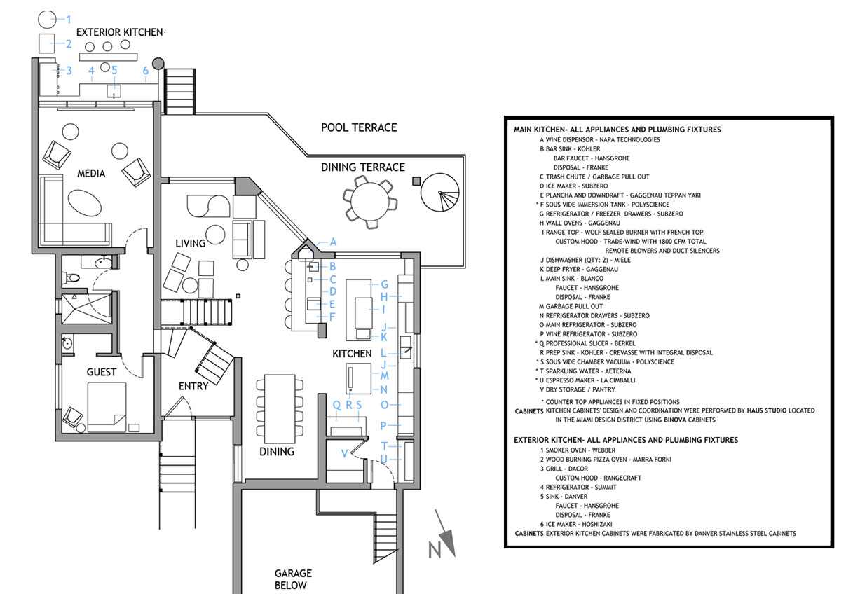Miami Lynn Gaffney Architect Kitchen Plumbing Diagram Shematic 3 Plan